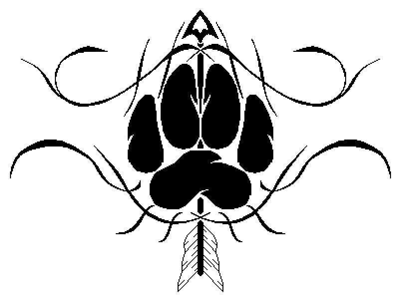 804x592 Tribal Wolf And Arrow Tattoo