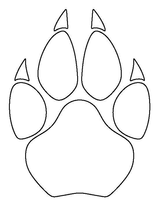 550x712 Wolf Paw Print