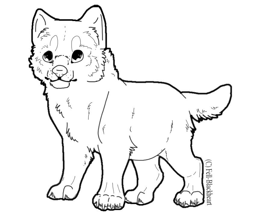 Nice 850x742 Free PSD Wolf Pup Lineart By Fells Adopts On DeviantArt
