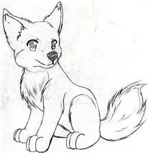 292x300 Anime Wolf Pup Drawings