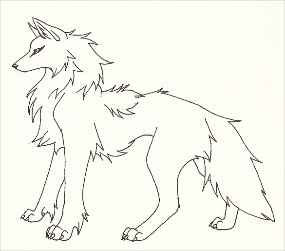 585x515 Wolf Drawing – 36+ Free Printable PDF, JPEG Format Download