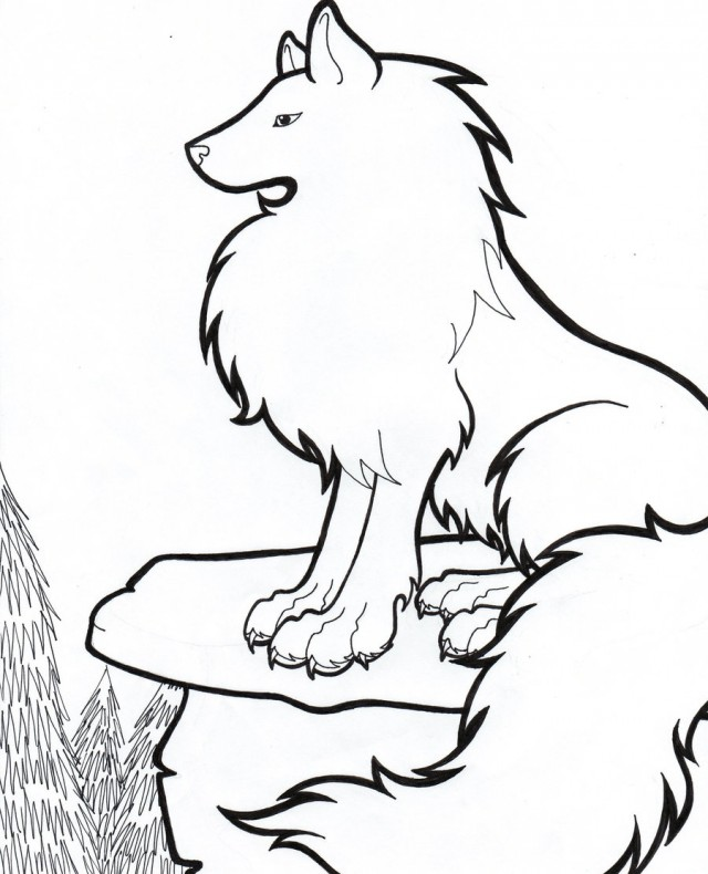 640x790 Drawing clipart wolf