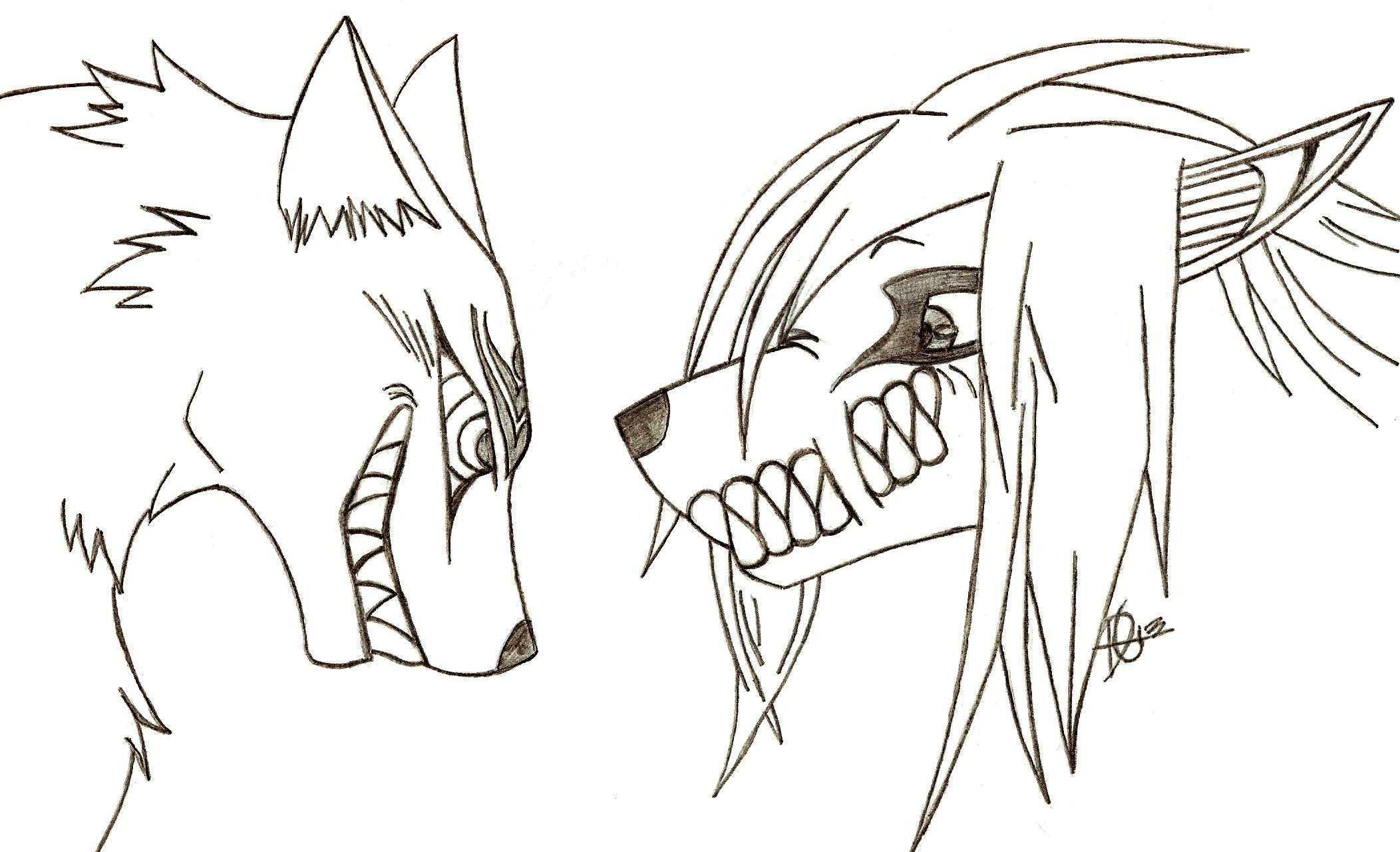 2104x1280 Wolf Drawings Anime Smilez!! Madarao And Eren Wolf Crossover Gift