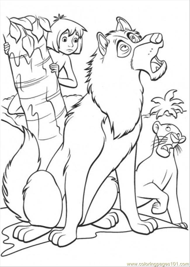 1016x786 Jungle Book 650x912 Mowgli Father Wolf And Bagheera Coloring Page