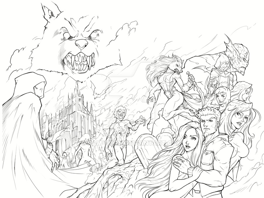 900x674 Night Wolf Comic Book Issue