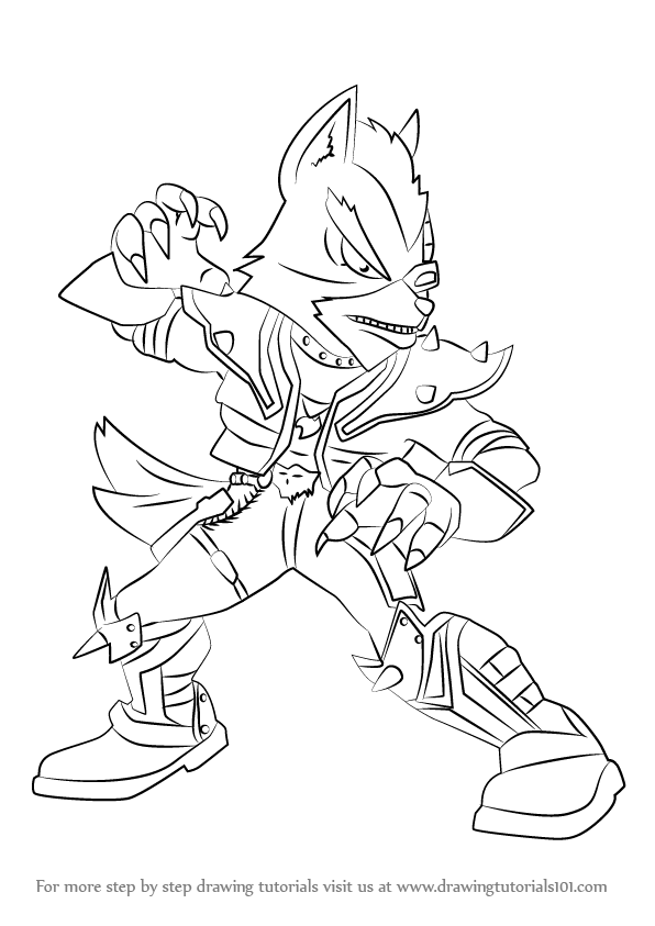 596x843 Learn How To Draw Wolf From Super Smash Bros (Super Smash Bros