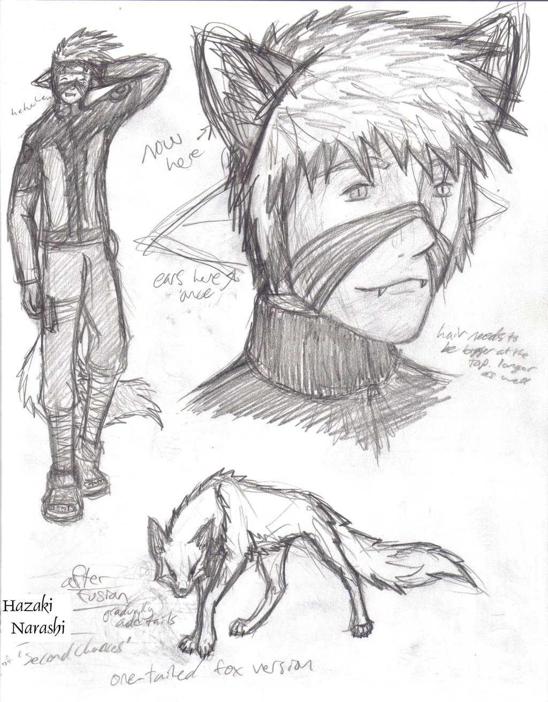 Werewolf anime drawing
