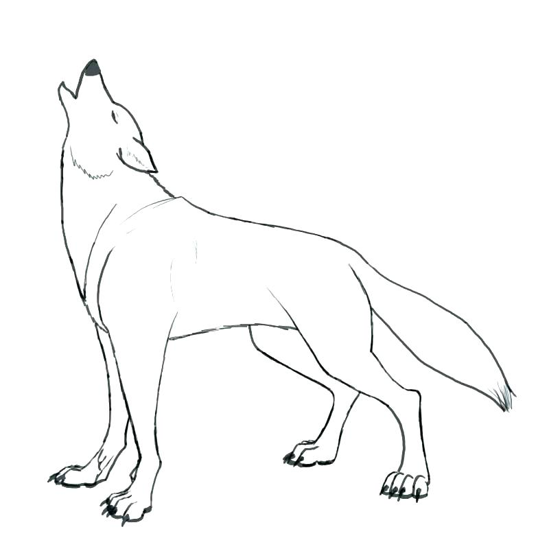Wolf Drawing Howling at GetDrawings.com | Free for personal use Wolf ...