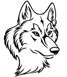 Wolf Drawing Outline