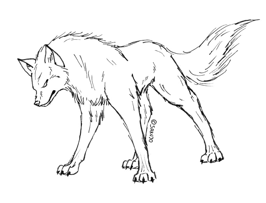 894x682 Growling Coloring Pages