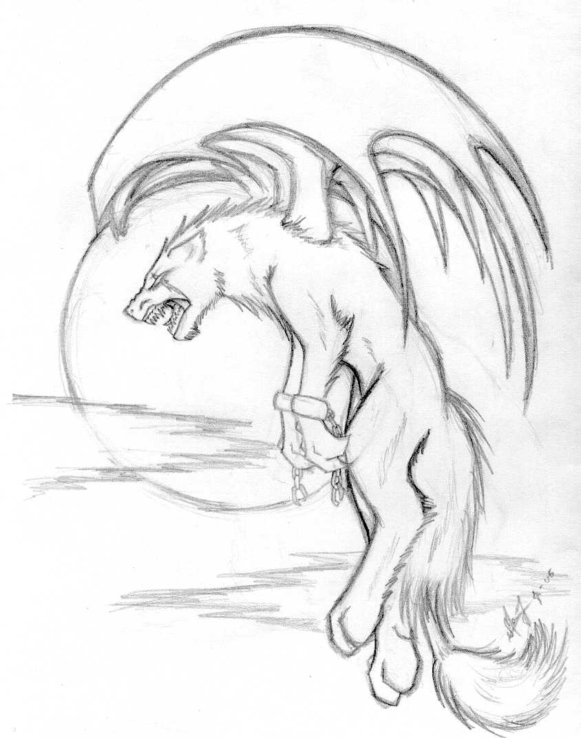 844x1072 Demon, Wolf Thing,,lineart,, By Magga