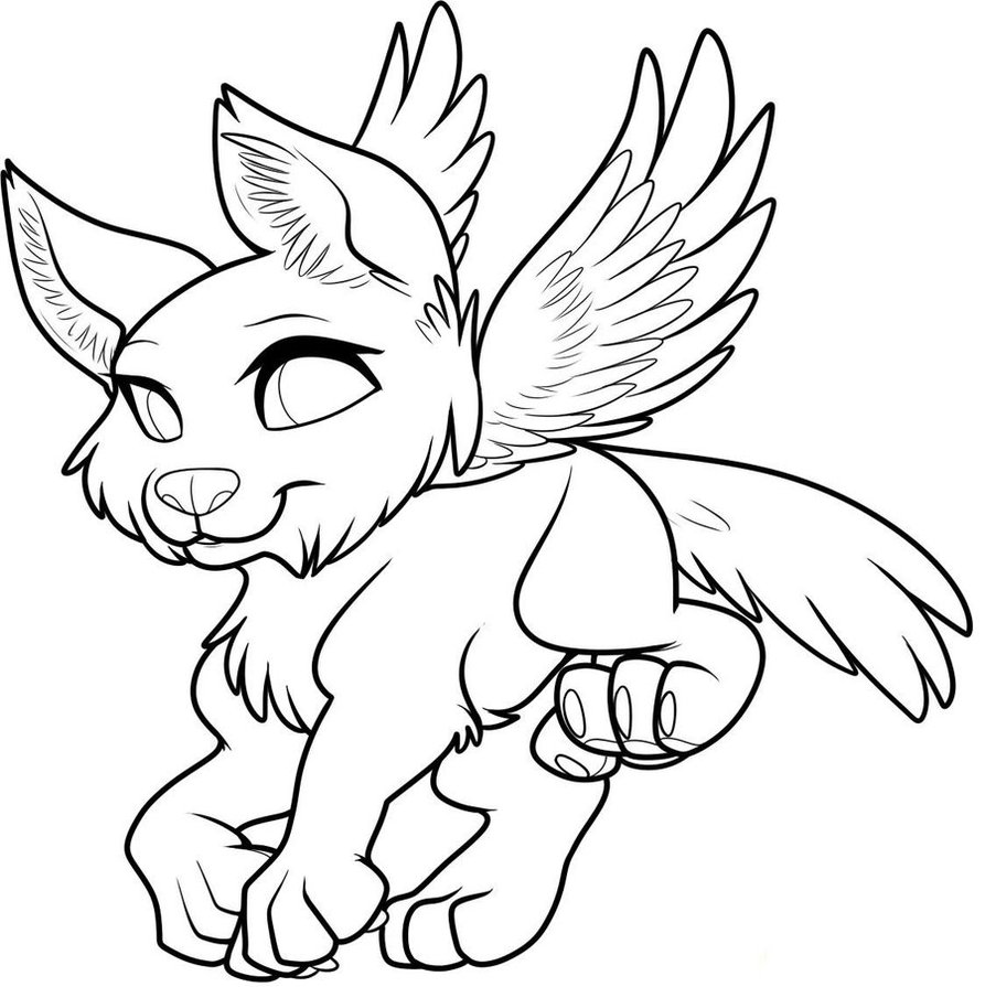 Wolf Drawing With Wings At Getdrawings Com Free For Personal Use