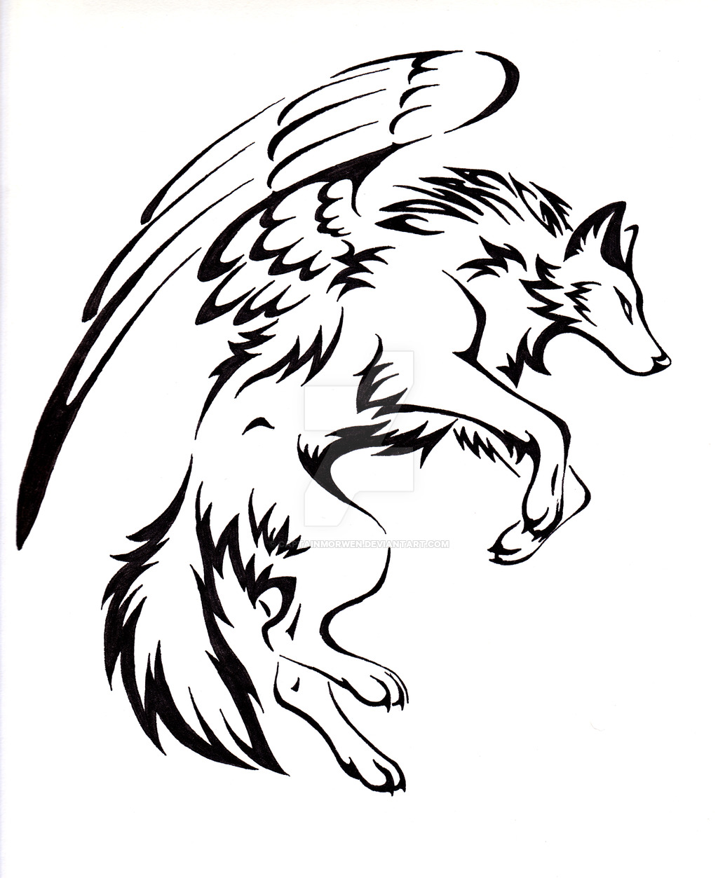 1024x1253 Winged Alpha She Wolf Commission By Wildspiritwolf