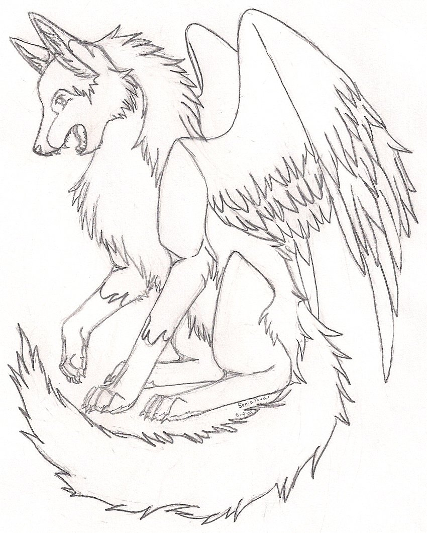 850x1059 Another Winged Wolf By Karate Foxes