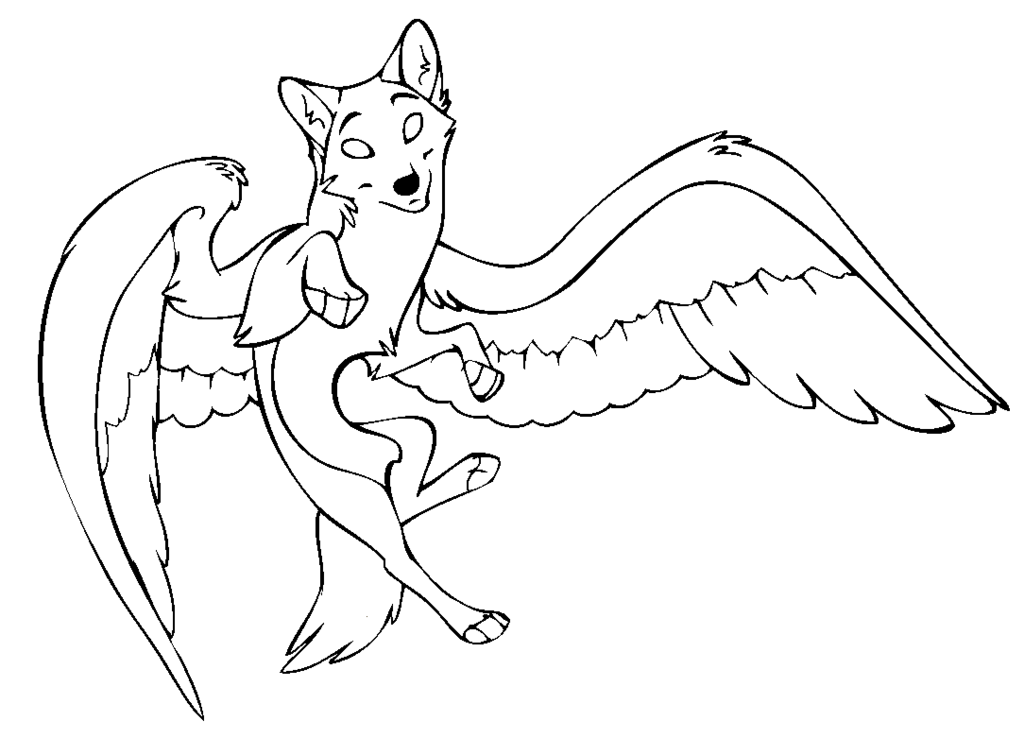 Wolf Drawing With Wings at GetDrawings.com | Free for personal use ...