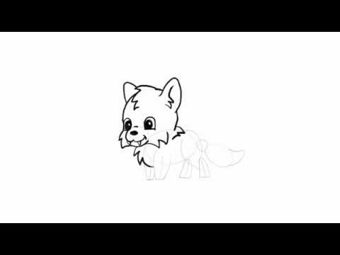 480x360 How To Draw Simple Cute Animals In Chibi Style Wolf