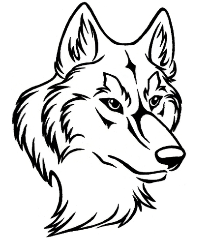 425x486 Luxury Wolf Head Clipart Wolf Face Drawing Clipart Best