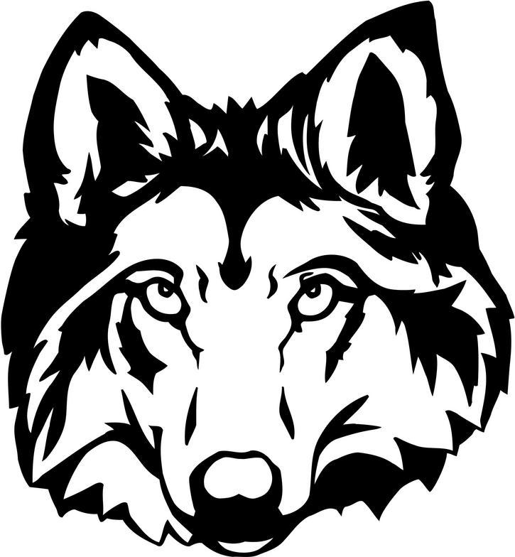 725x784 Wolf Face Outline
