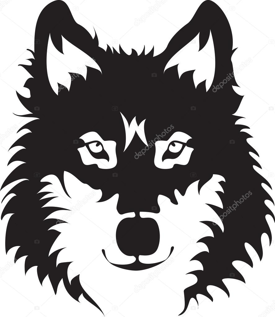 887x1024 Wolf Face Stock Vector Silverrose1
