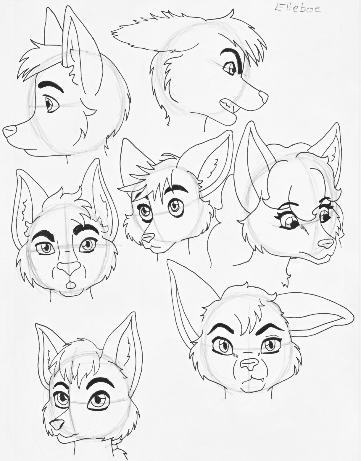 how to draw a furry step by step