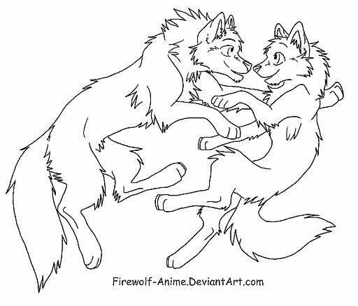 Wolf Family Drawing