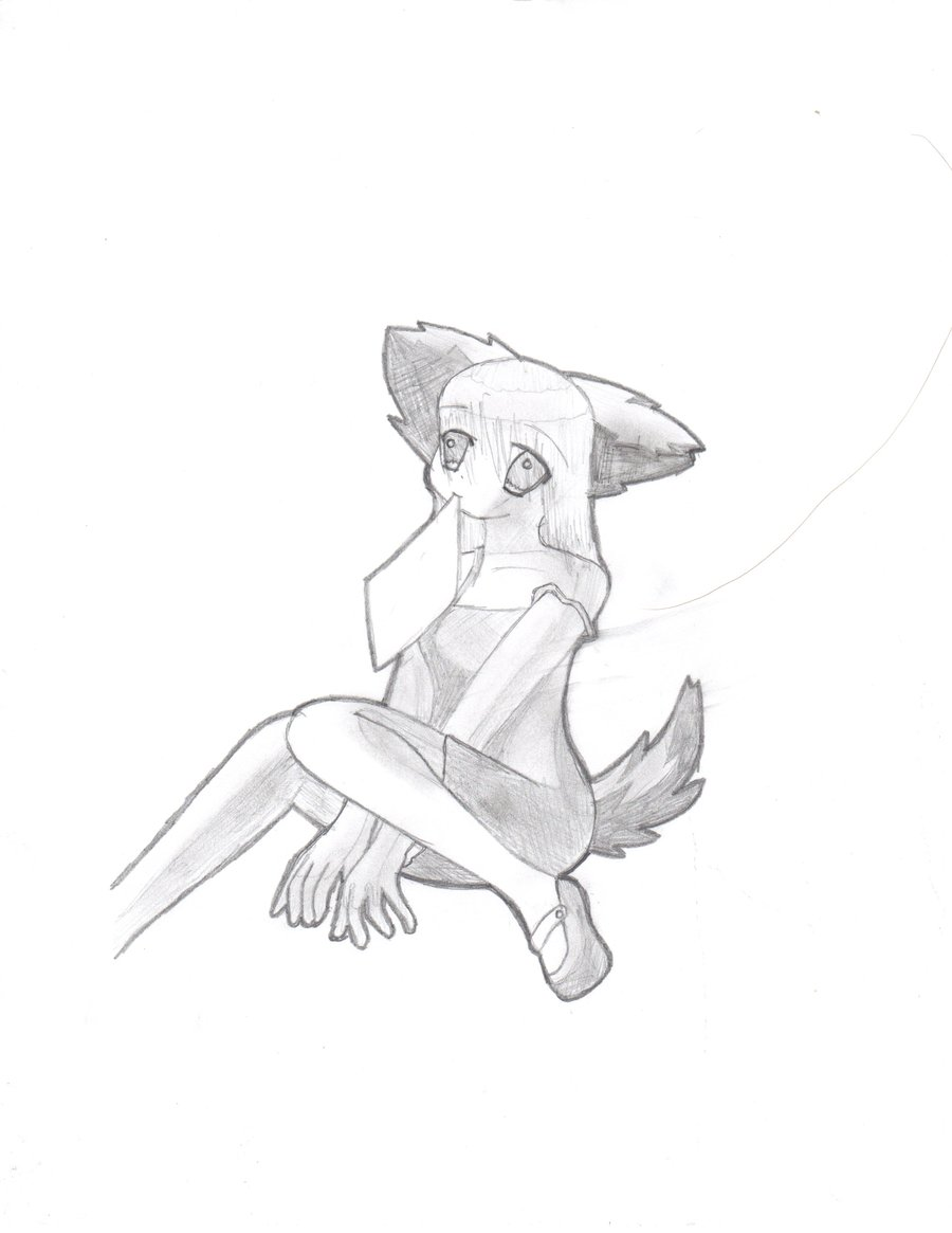 Wolf Girl Drawing At Getdrawings Com Free For Personal Use Wolf