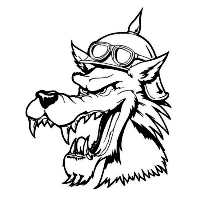 Wolf Hat Drawing
