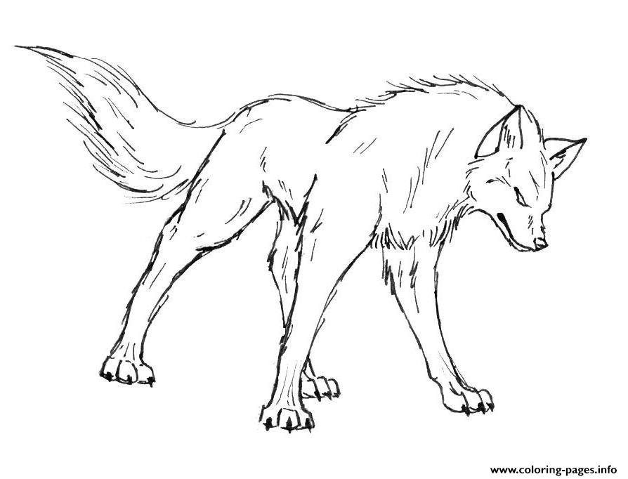 894x682 Cool Wolf Coloring Pages Color Bros