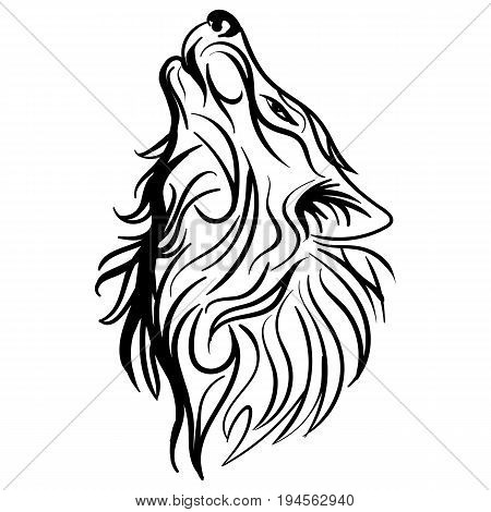 450x470 Wolf Head Images, Illustrations, Vectors
