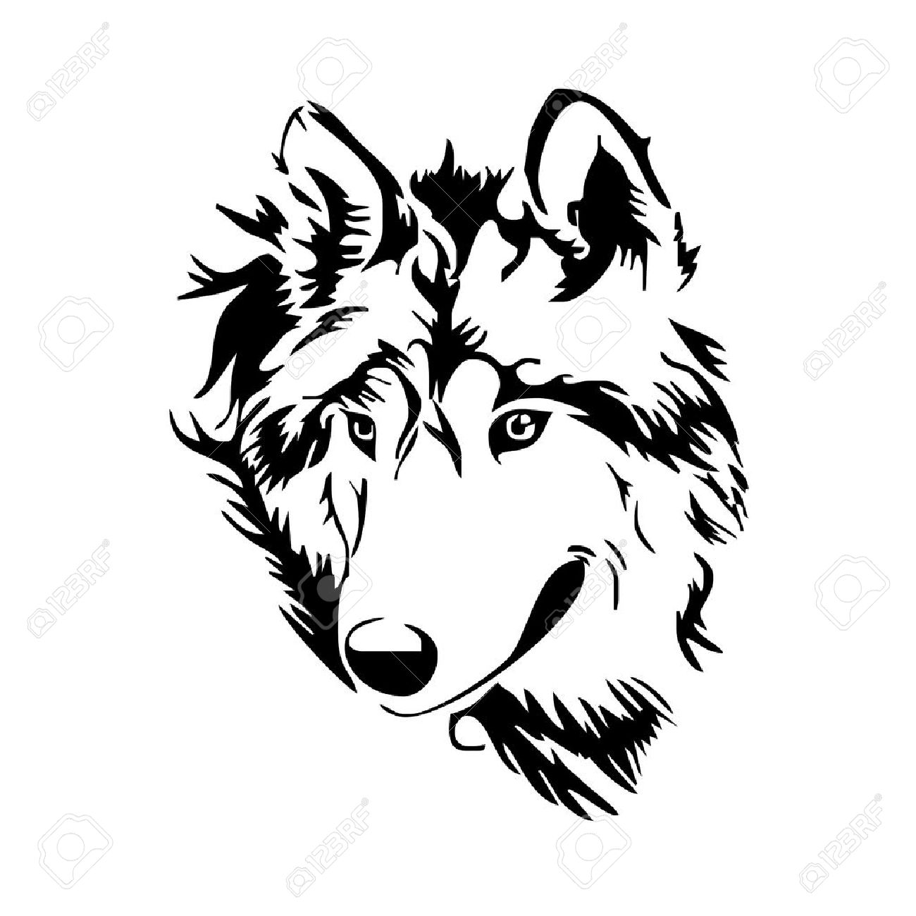 1300x1300 Wolf Head Sketch Royalty Free Cliparts, Vectors, And Stock