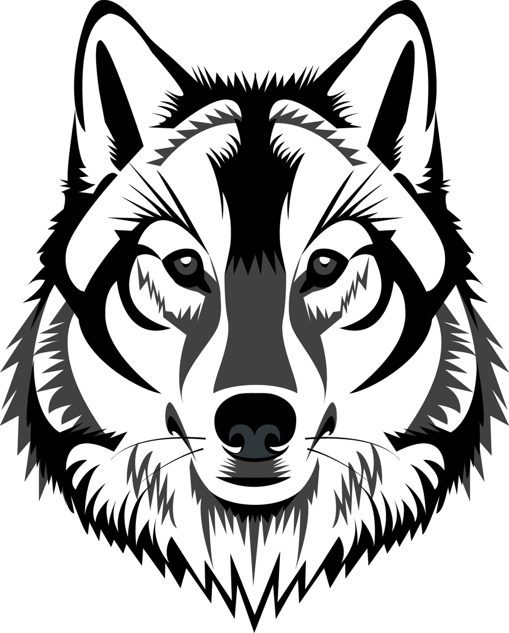 1000x1244 Black And White Wolf Drawing 6 Photo Of 96 For Black White Wolf
