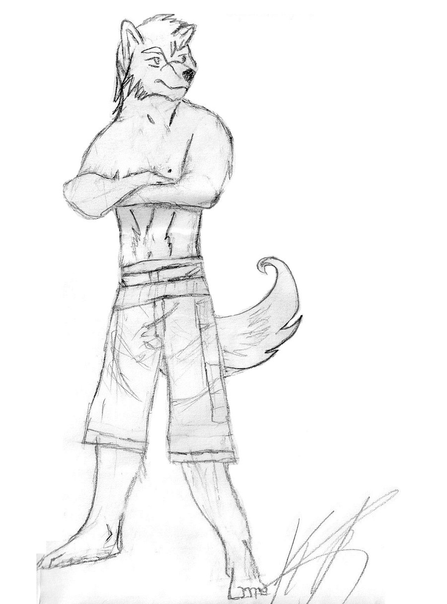 900x1216 Wolf Anthromorph Furry By Kdog177