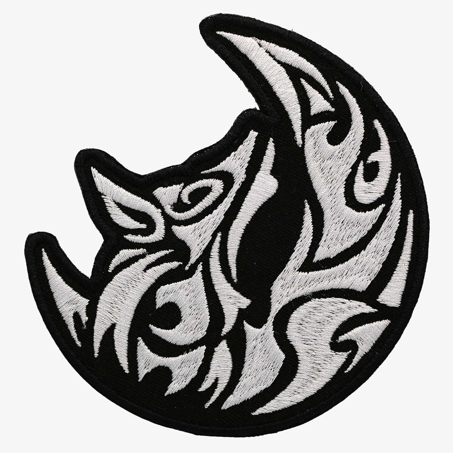 1500x1500 Tribal Howling Moon Wolf Motorcycle Club Embroidered Biker Patch