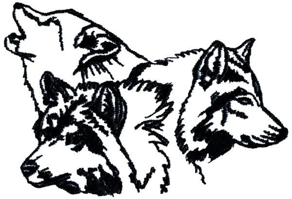 600x409 Tribal Wolf And Moon Necklaces Clipart