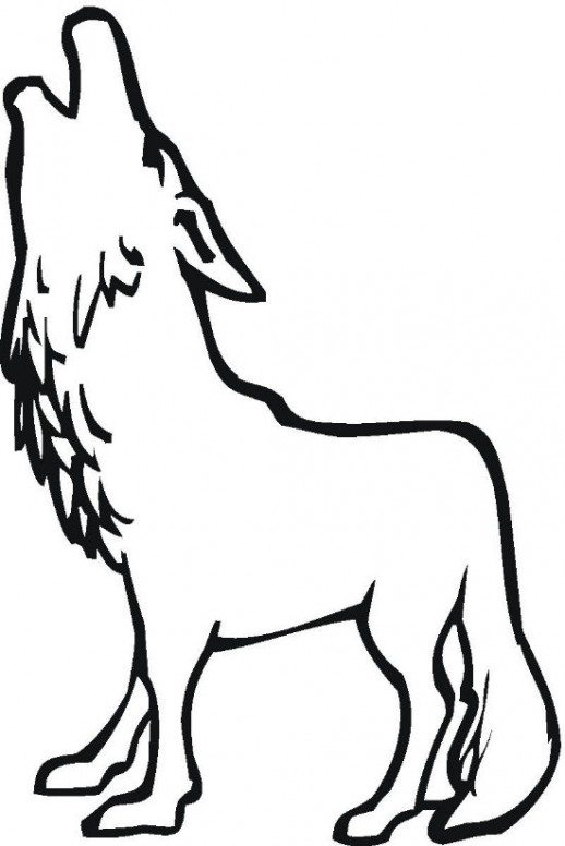518x776 Wolf Howling Coloring Pages Woof Mandala Coloring Pages. Wolf