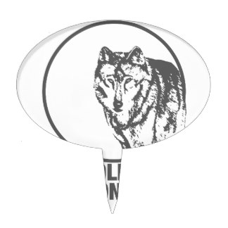 324x324 Wolves Howling At The Moon Cake Toppers Zazzle