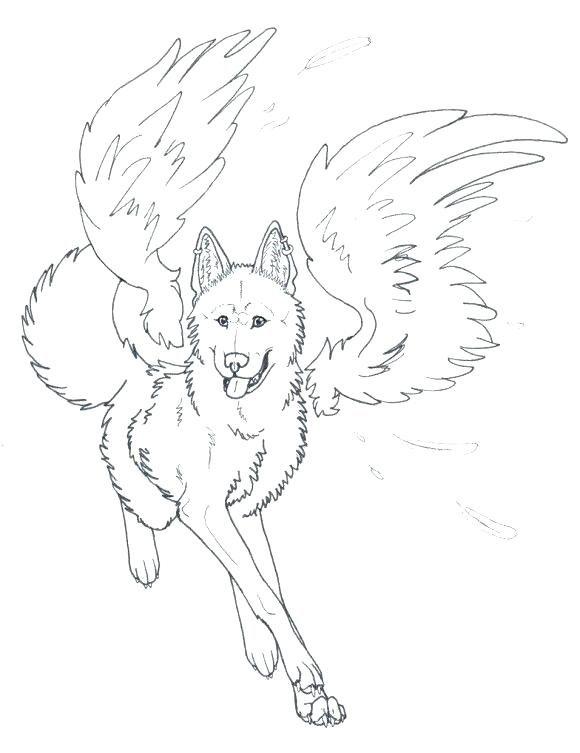580x753 Howling Wolf Coloring Pages Wolves Coloring Pages Pin Drawn