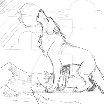 400x400 A Wolf Howling To The Moon By Smiles12345