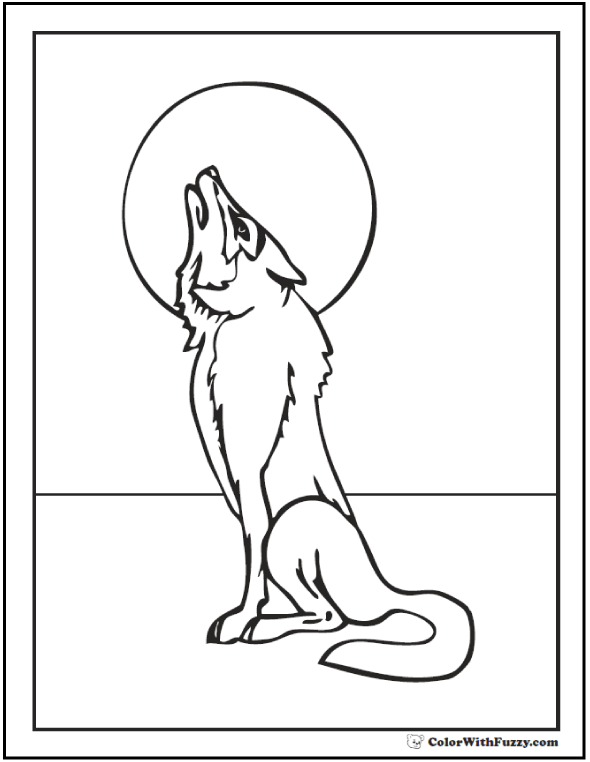 590x762 Wolf Coloring Pages Print And Customize