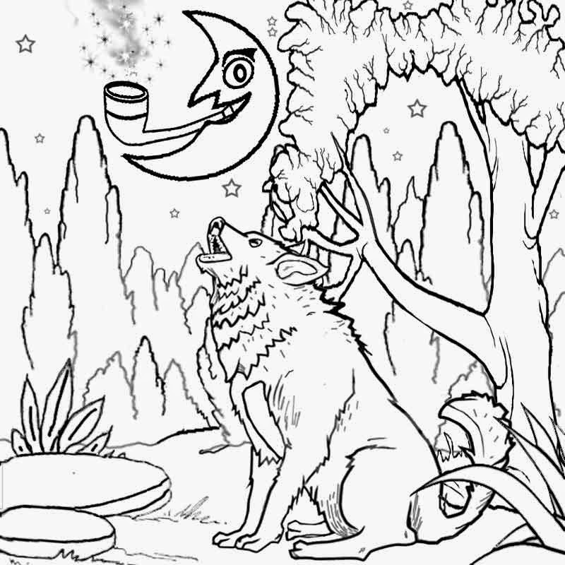 800x800 Wolf Moon Coloring Pages Printable Printable Coloring Pages
