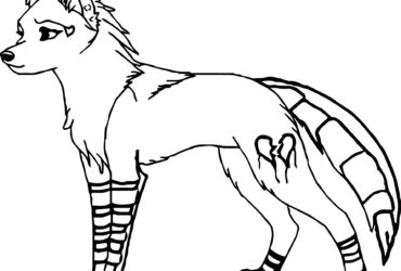 370x250 Coloring Pages Of Wolves Howling
