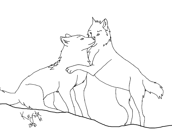 600x472 Wolf Love Lineart By Yipyuffmcmoonypixels