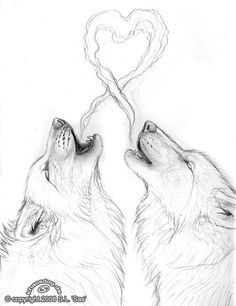 236x306 Wolf Love Drawing