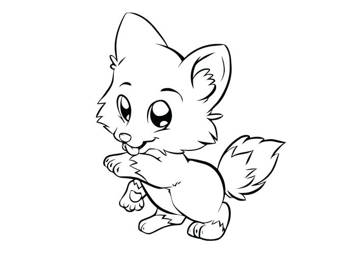 Wolf Puppy Drawing at GetDrawings.com | Free for personal use Wolf ...