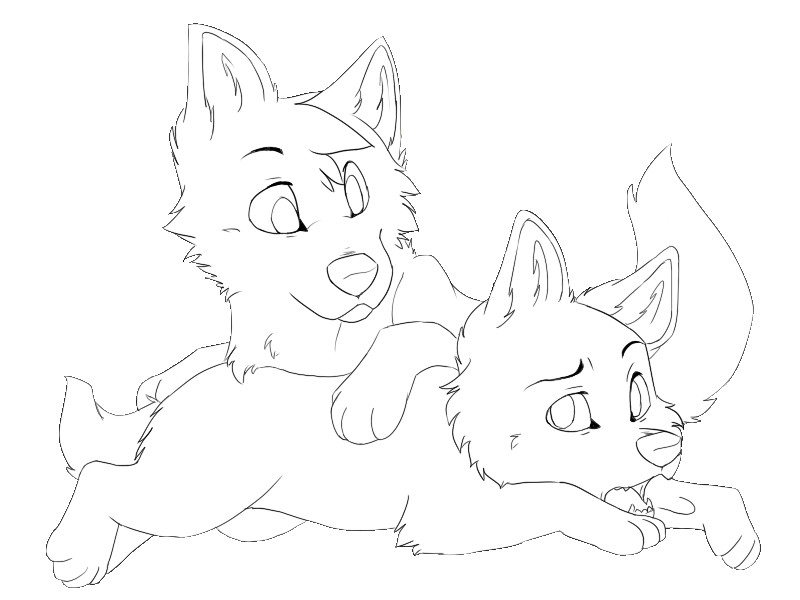 800x600 Wolf Pups Lineart By Terryburr On DeviantArt