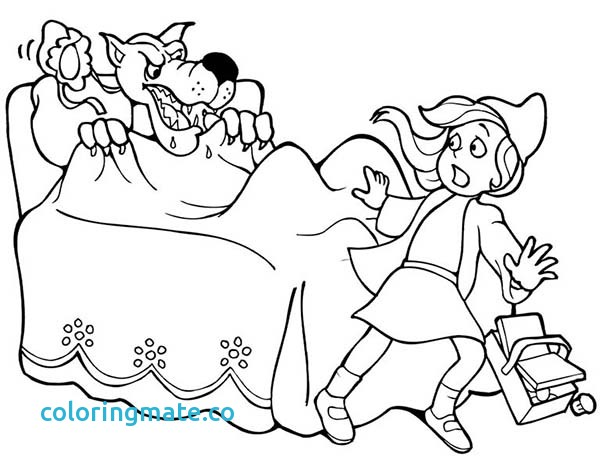 600x469 Little Red Riding Hood Coloring Pages Best Of Little Red Riding