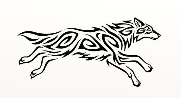 600x324 Running wolf
