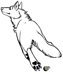 210x246 Smooth Running Wolf Template By Saceronsage