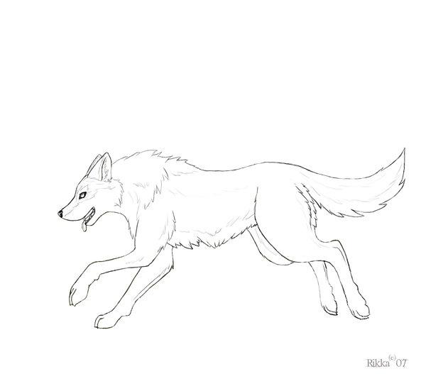 600x527 run wolf line by Kraven foxy on DeviantArt