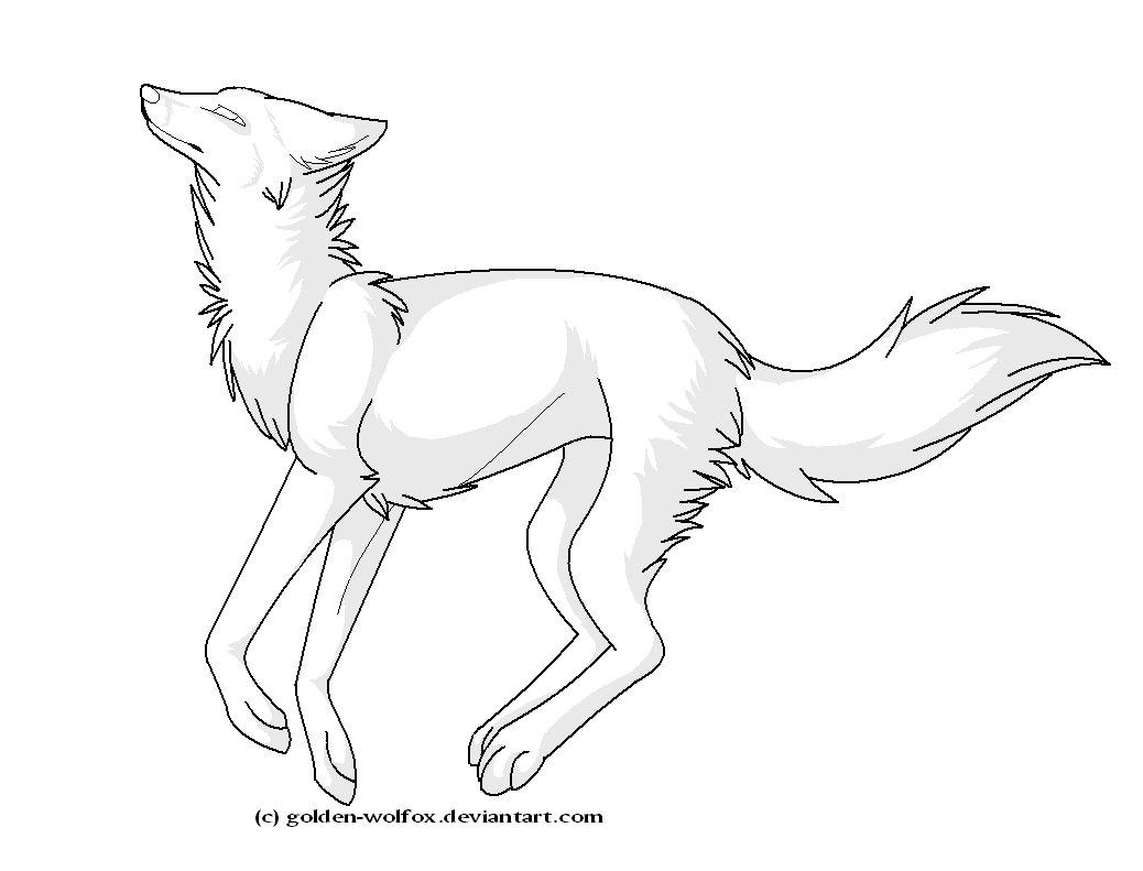 1038x791 running wolf lineart by golden wolfox on DeviantArt